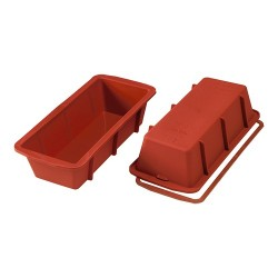 Flexible silicone baking mould
