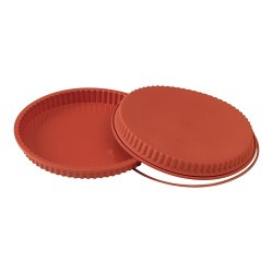 Flexible silicone flan mould