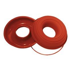 Flexible silicone Savarin cakemould, round