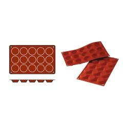 Flexible silicone tartelette mould