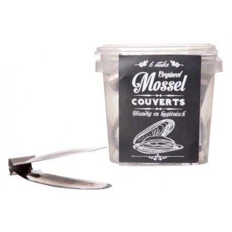 Mussel flatware, 6pcs