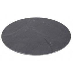 Slate plate, round d: 30cm
