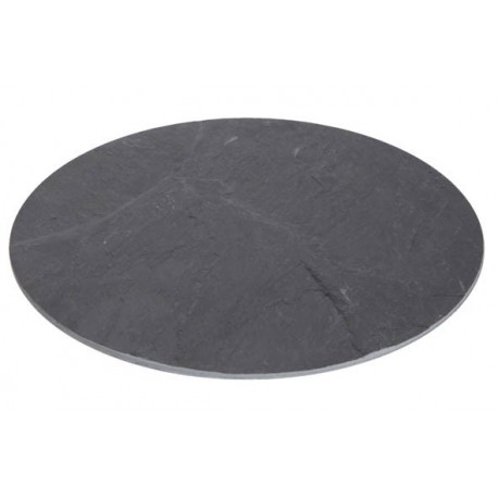 Slate plate, round d: 30cm