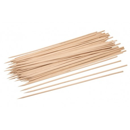 BBQ skewers, wood, 25cm, 200pcs