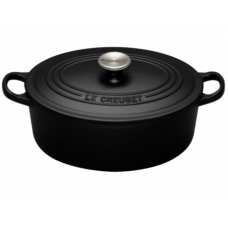 Cast iron oval casserole Le Creuset, 29cm, black