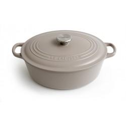 Cast iron oval casserole Le Creuset, 29cm, Sisal