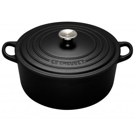 Cast iron round casserole Le Creuset, 26cm, Black