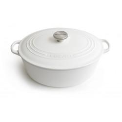 Matte cast iron oval casserole  Le Creuset