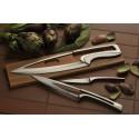 4 kitchen knives Meeting Burgundy natural oak stand